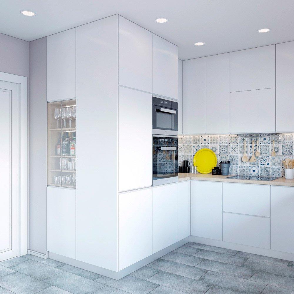 Расположение шкафов на кухне