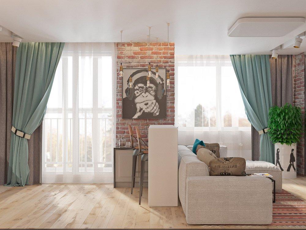 Расположение окон в двухкомнатной квартире