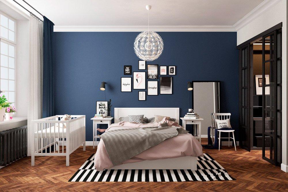 Кроватка для младенца в спальне фото