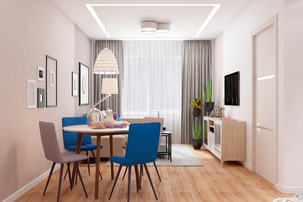 Декор совмещённого пространства