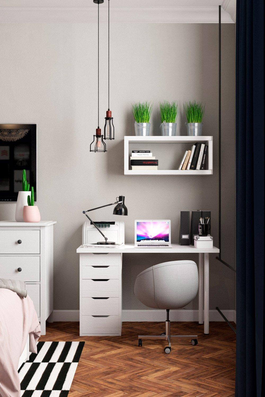 Фото рабочей зоны в спальне
