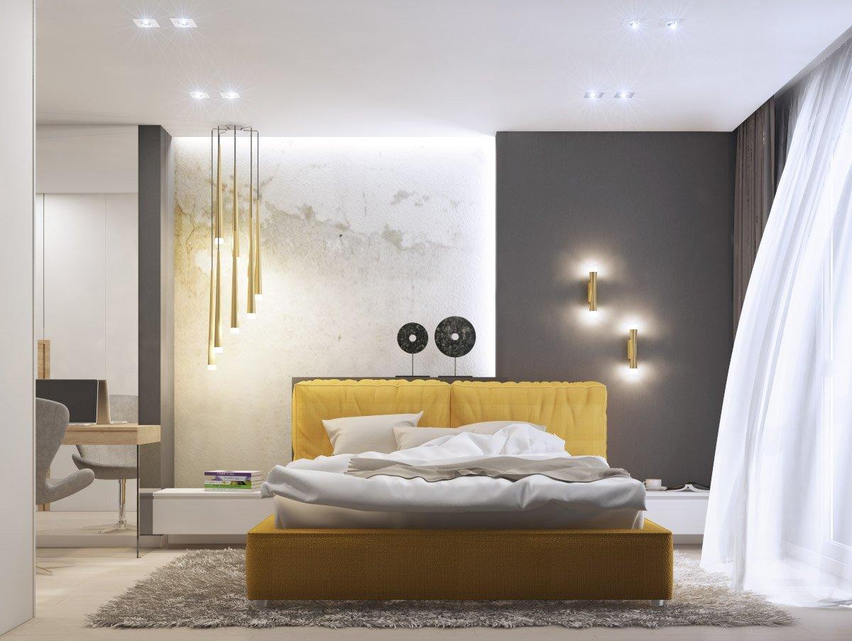 Декор спальни в стиле минимализма