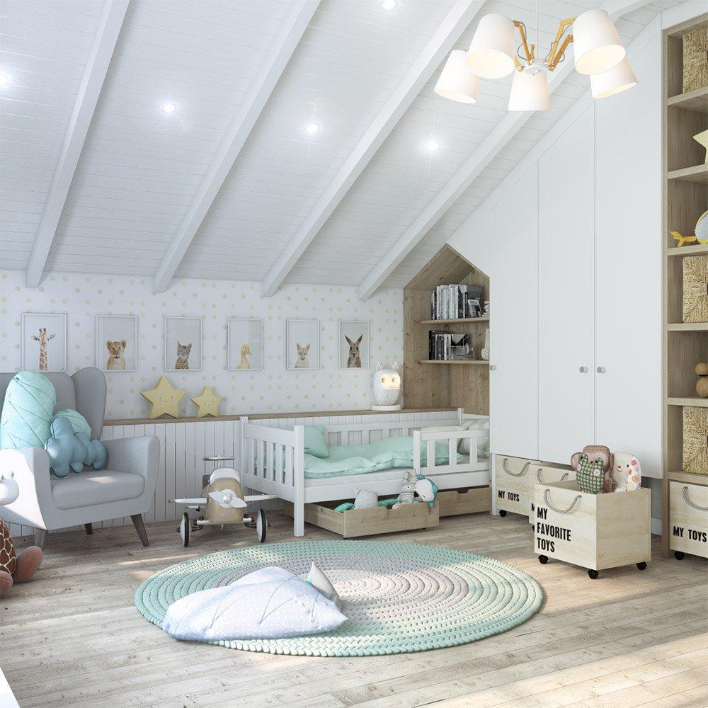 Дизайн детской в частном доме