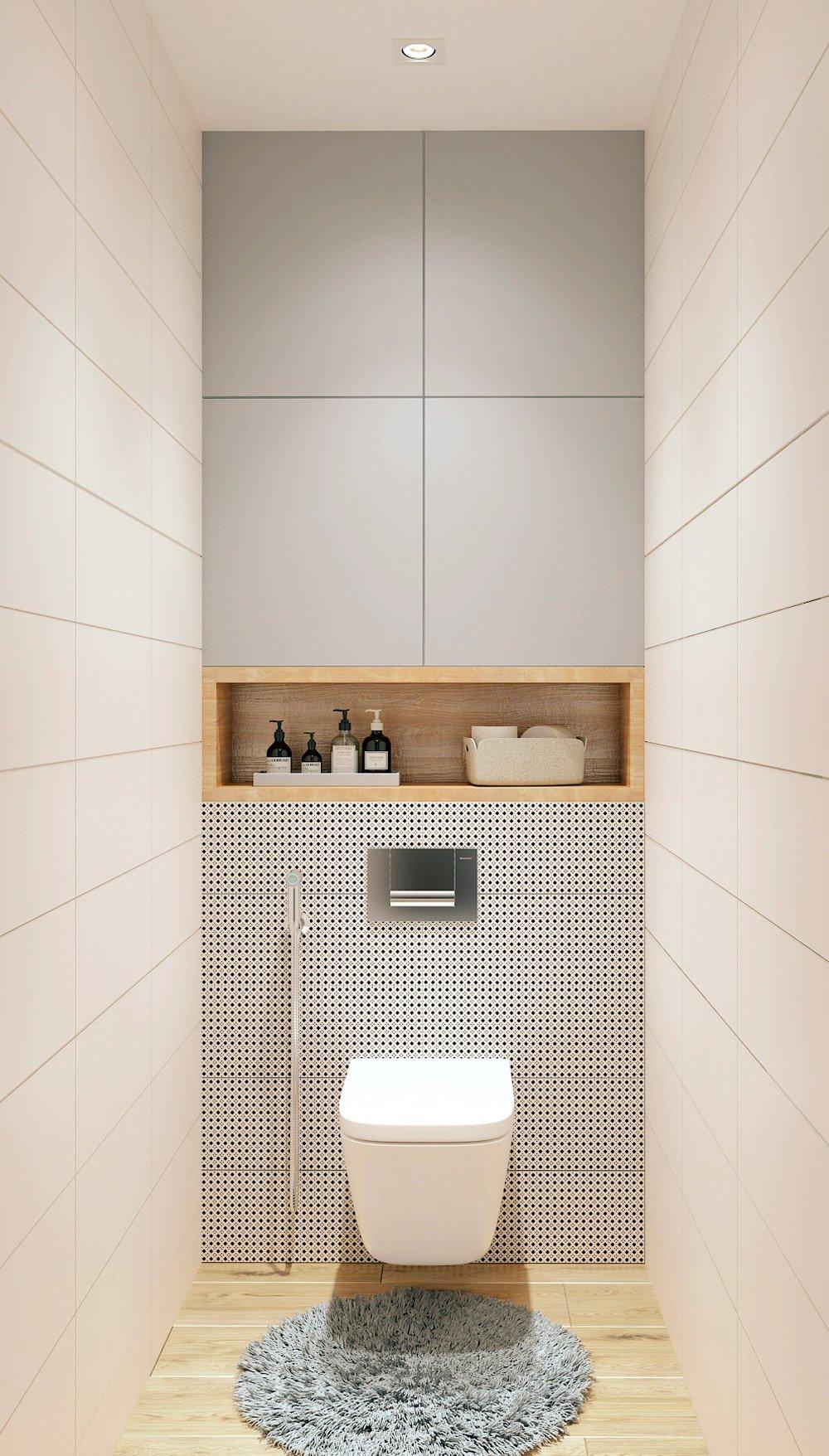 Стиль минимализма в интерьере туалета