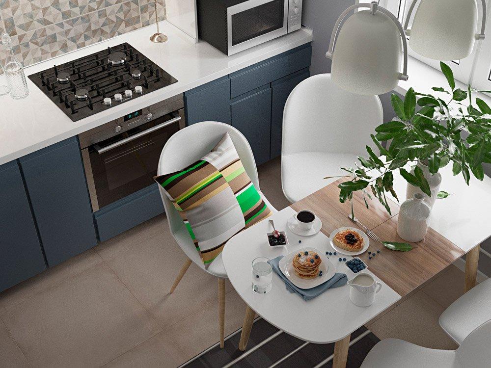 Современный стиль дизайна на кухне