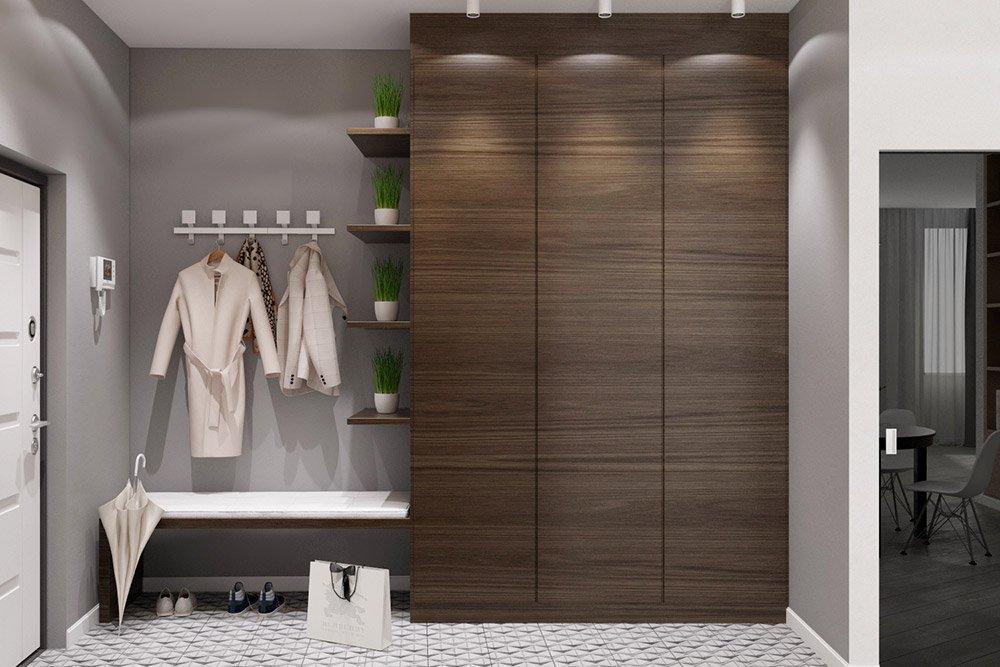Эко стиль в дизайне коридора