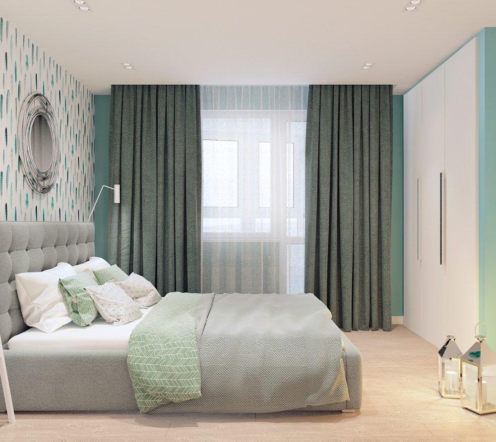 Дизайн проект спальни в нежных оттенках