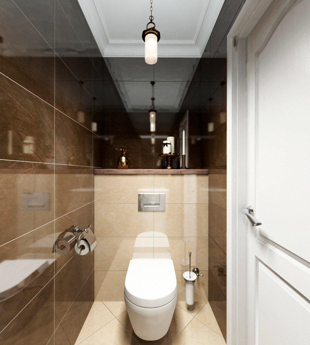 Дизайн раздельного санузла туалет