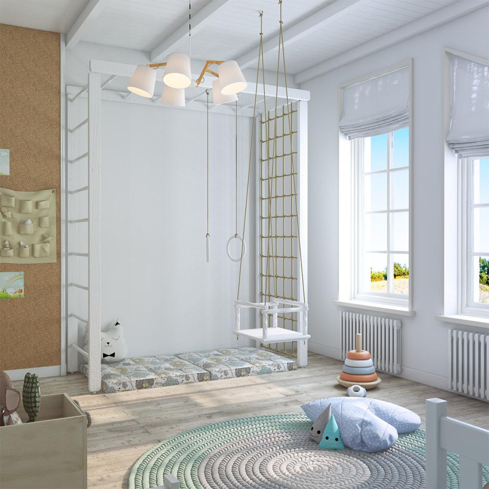 Шведская секция в детской комнате