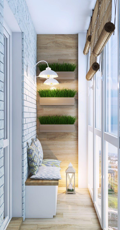 Балкон с элементами эко стиля