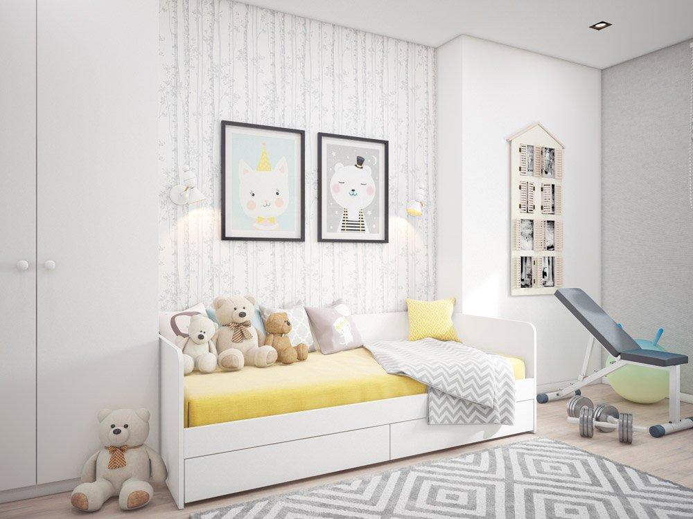 Детская с белой мебелью