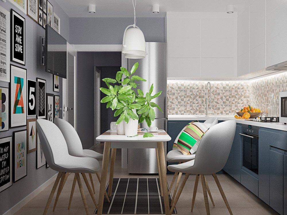 Фото дизайна кухни 7 м кв