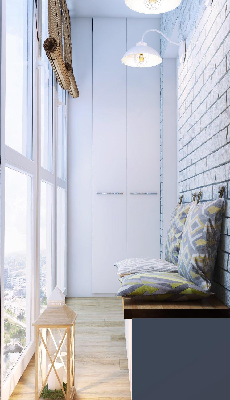 Дизайн интерьера очень маленького балкона