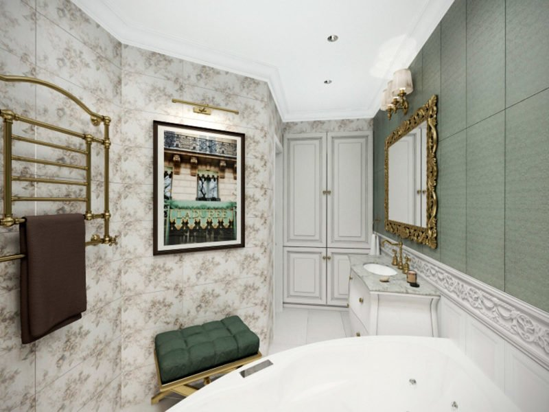 Дорогая отделка ванной комнаты