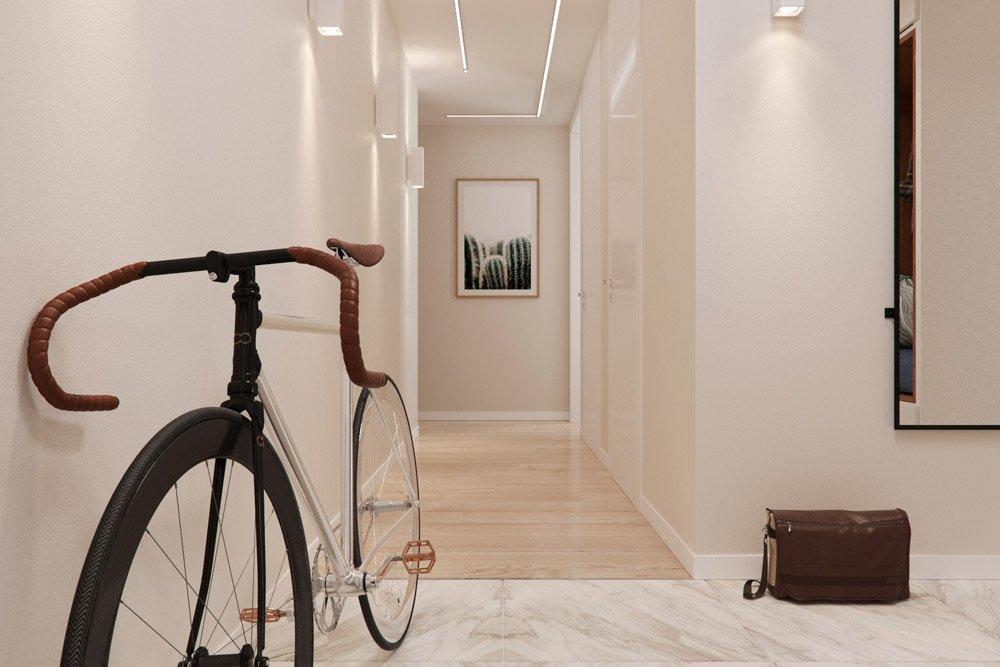Фото коридора с подсветкой на потолке
