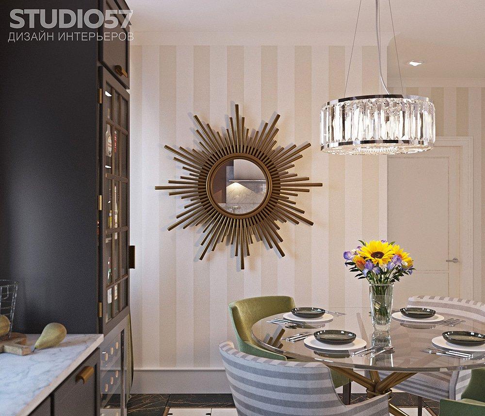 Зеркало в кухне фото