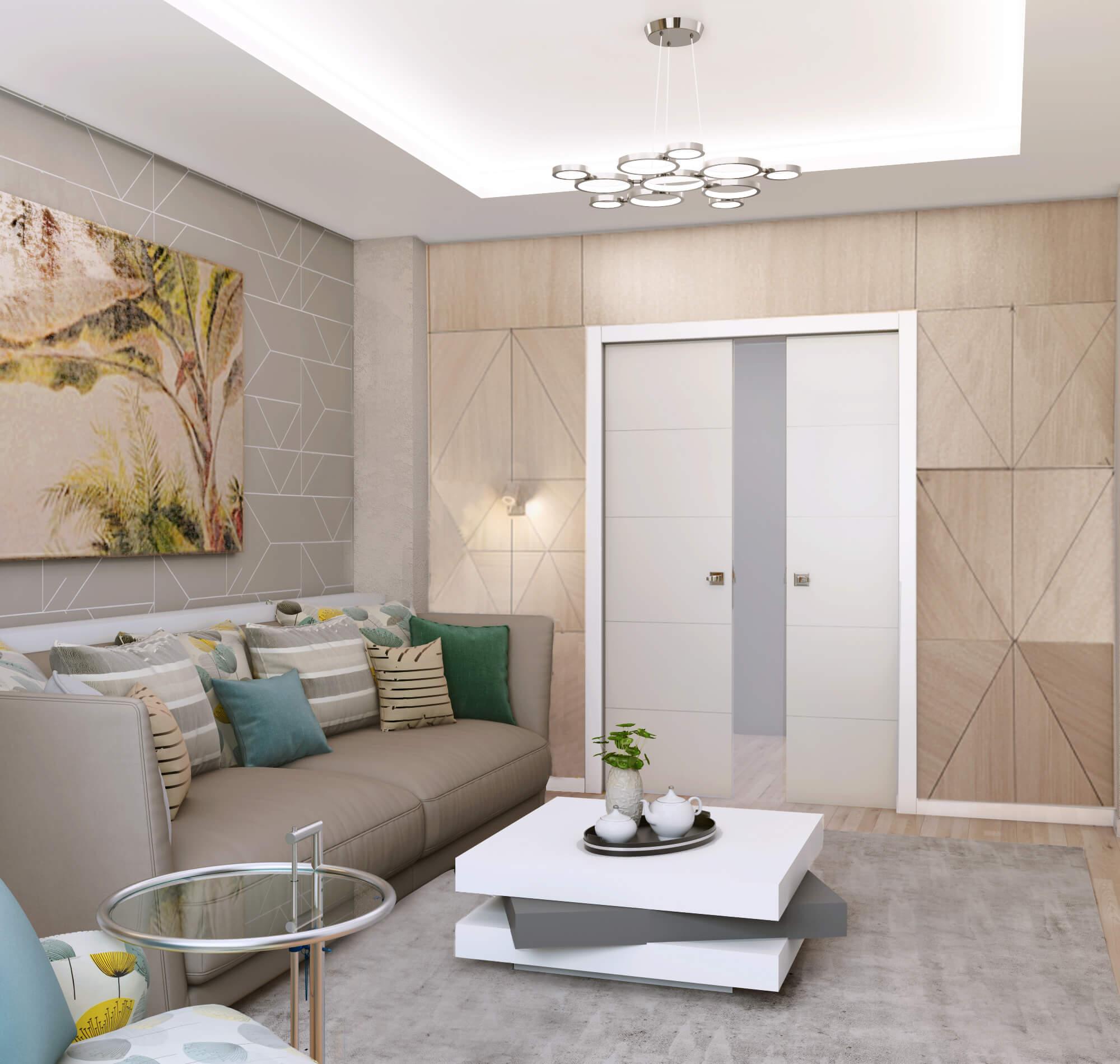 Фото дизайна раздвижных дверей в гостиную
