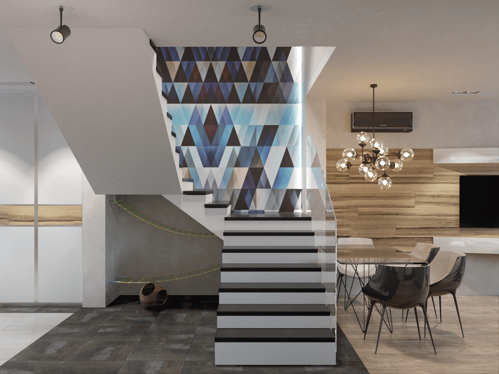 Фото необычного дизайна лестницы