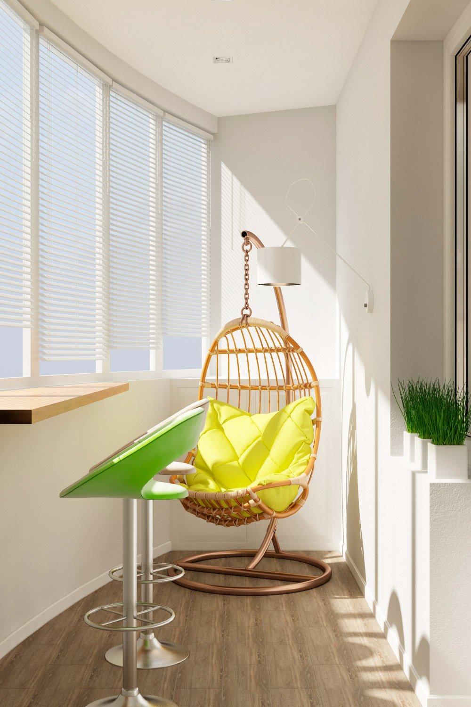 Дизайн балкона полукругом