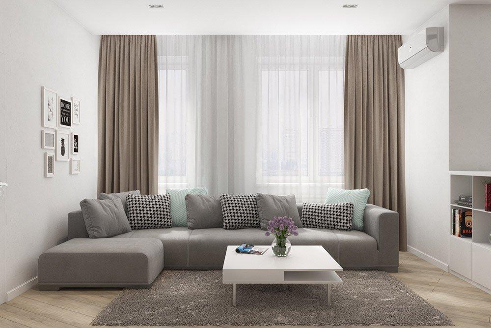 Дизайн мебели в гостиную в эко стиле