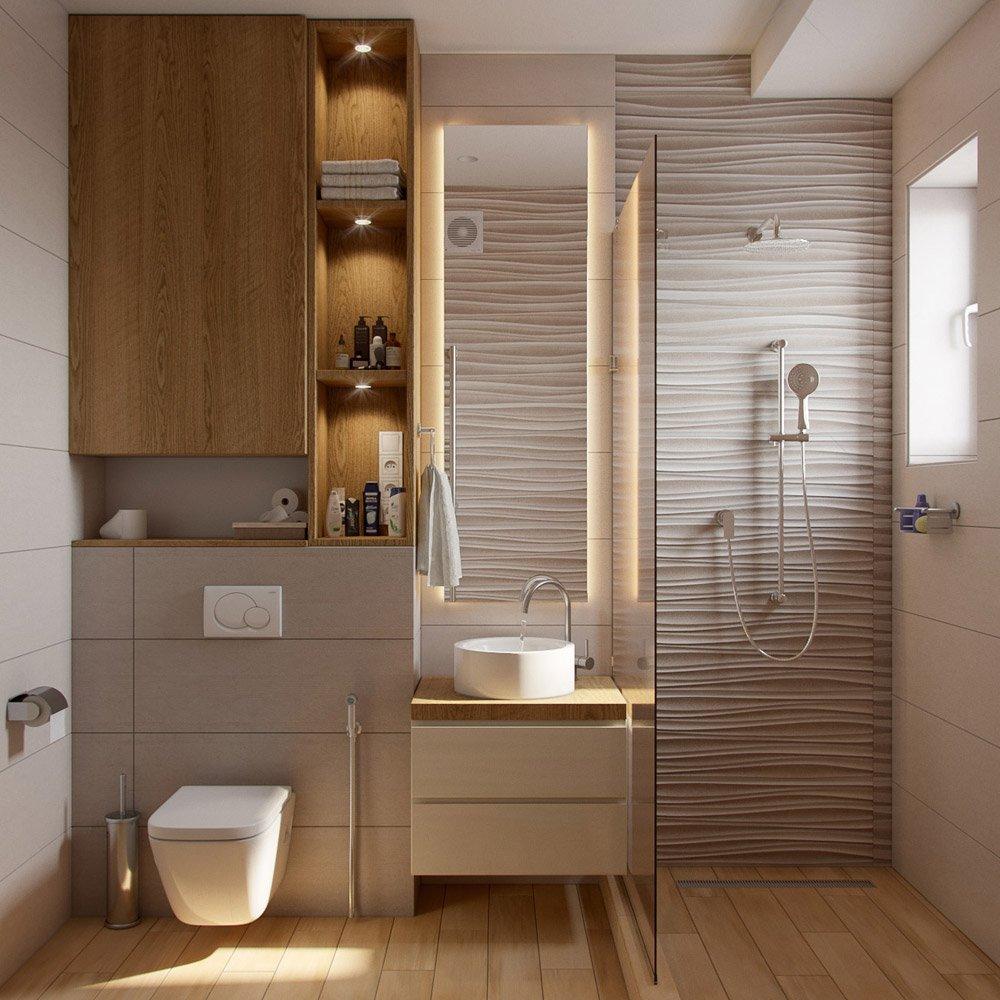 Дизайн стен в санузле