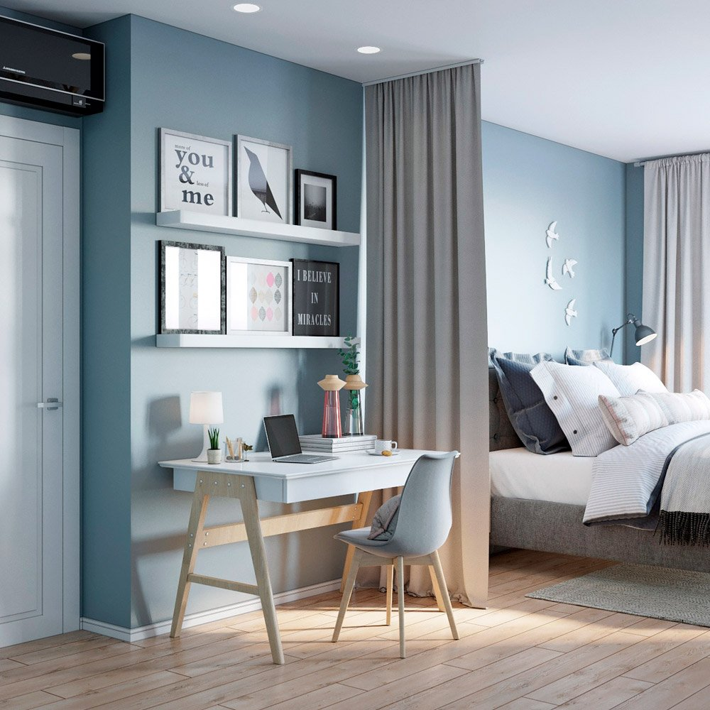 Светлый современный дизайн спальни
