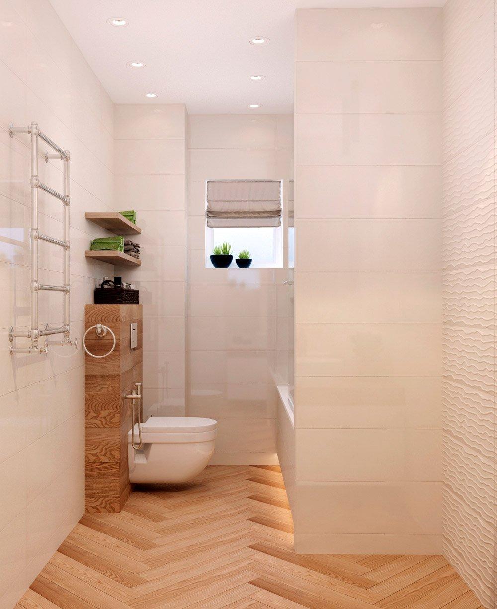 Фото размещения туалета и ванной