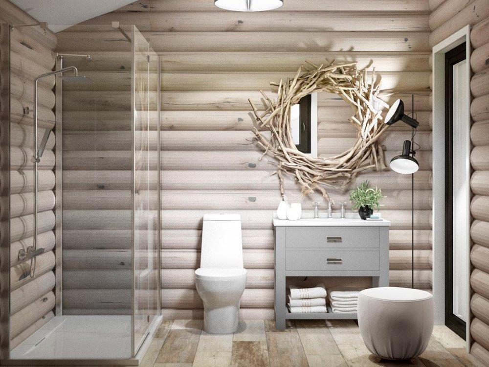 Дизайн проект с натуральной мебелью