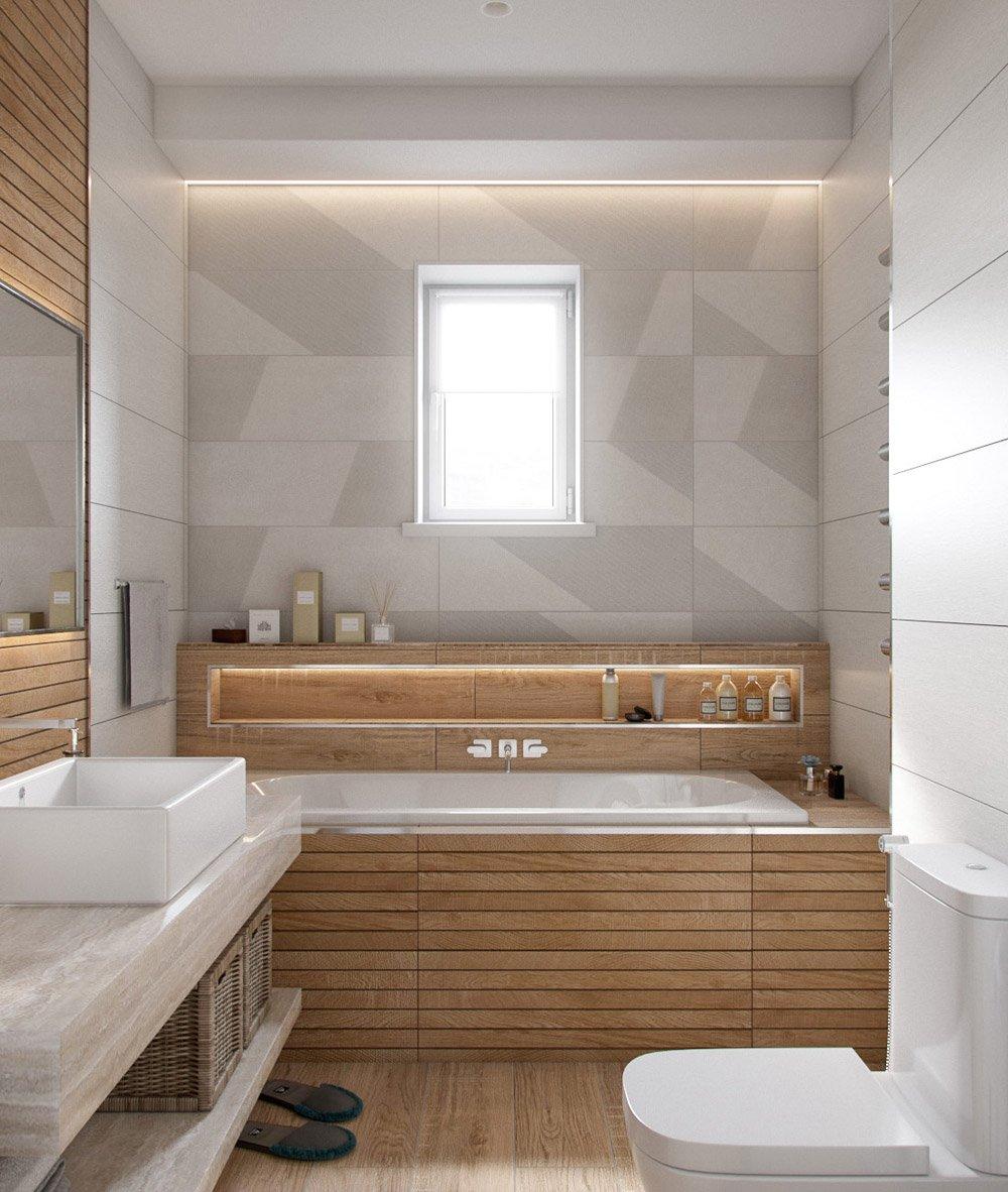 Ванна в эко стиле в квартире
