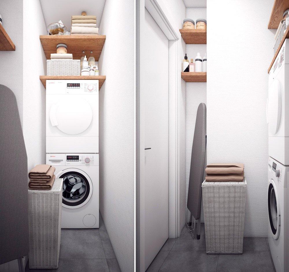 Вариант размещения стиральной и сушильной машин