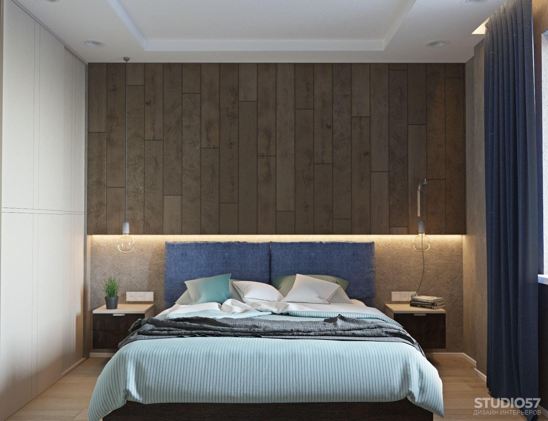 Дизайн интерьера очень большой спальни