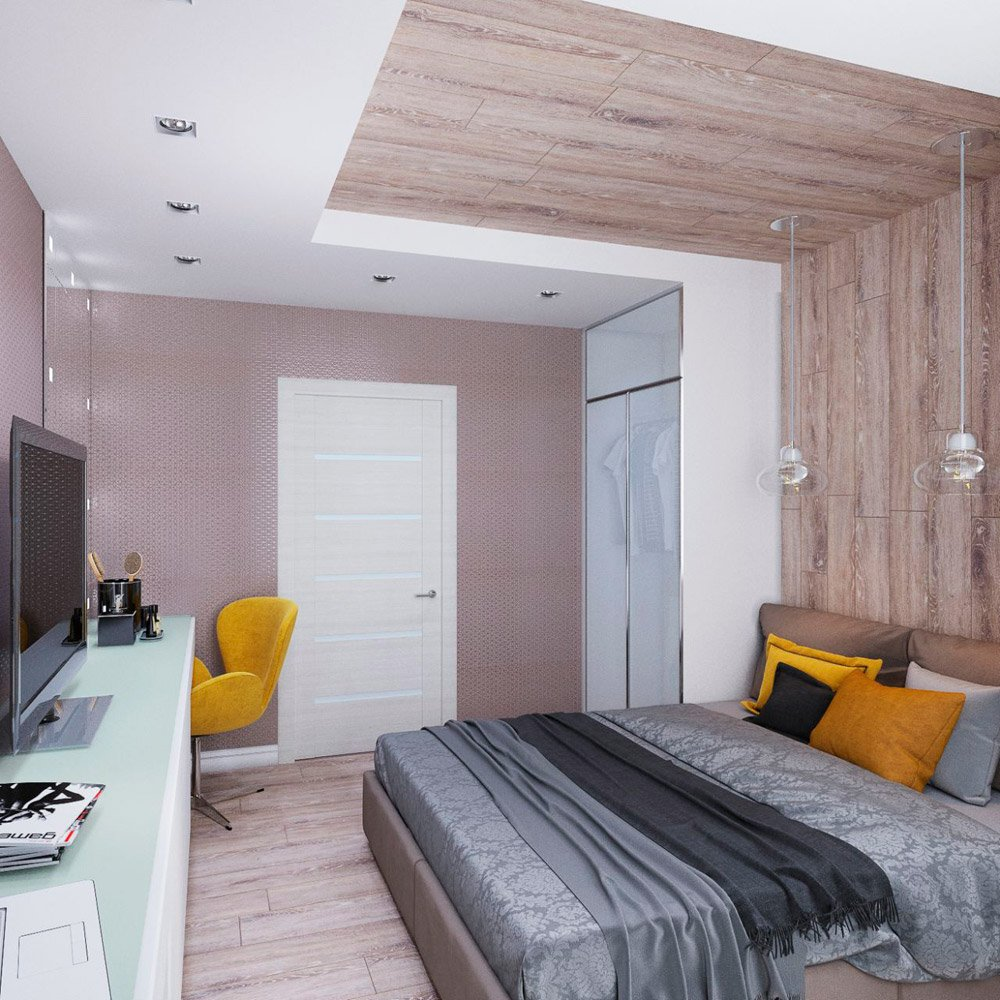 Размещение мебели в спальне для супругов