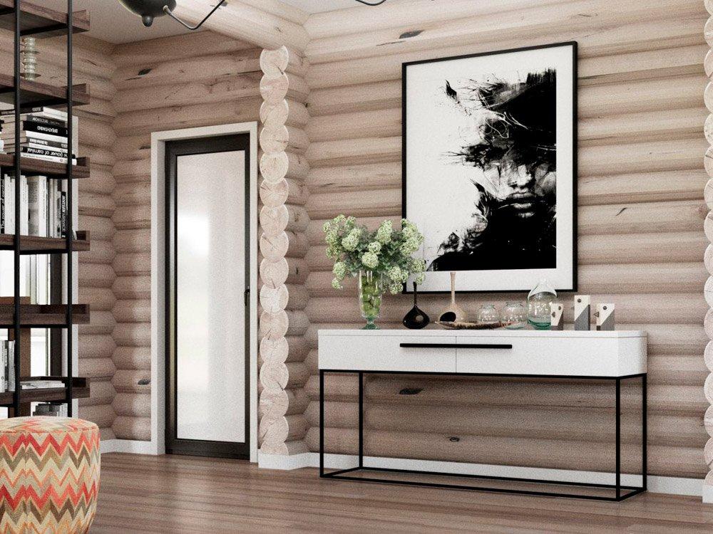 Декор деревянных стен