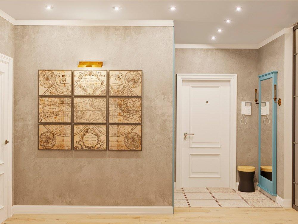 Дизайн интерьера прихожей с картиной