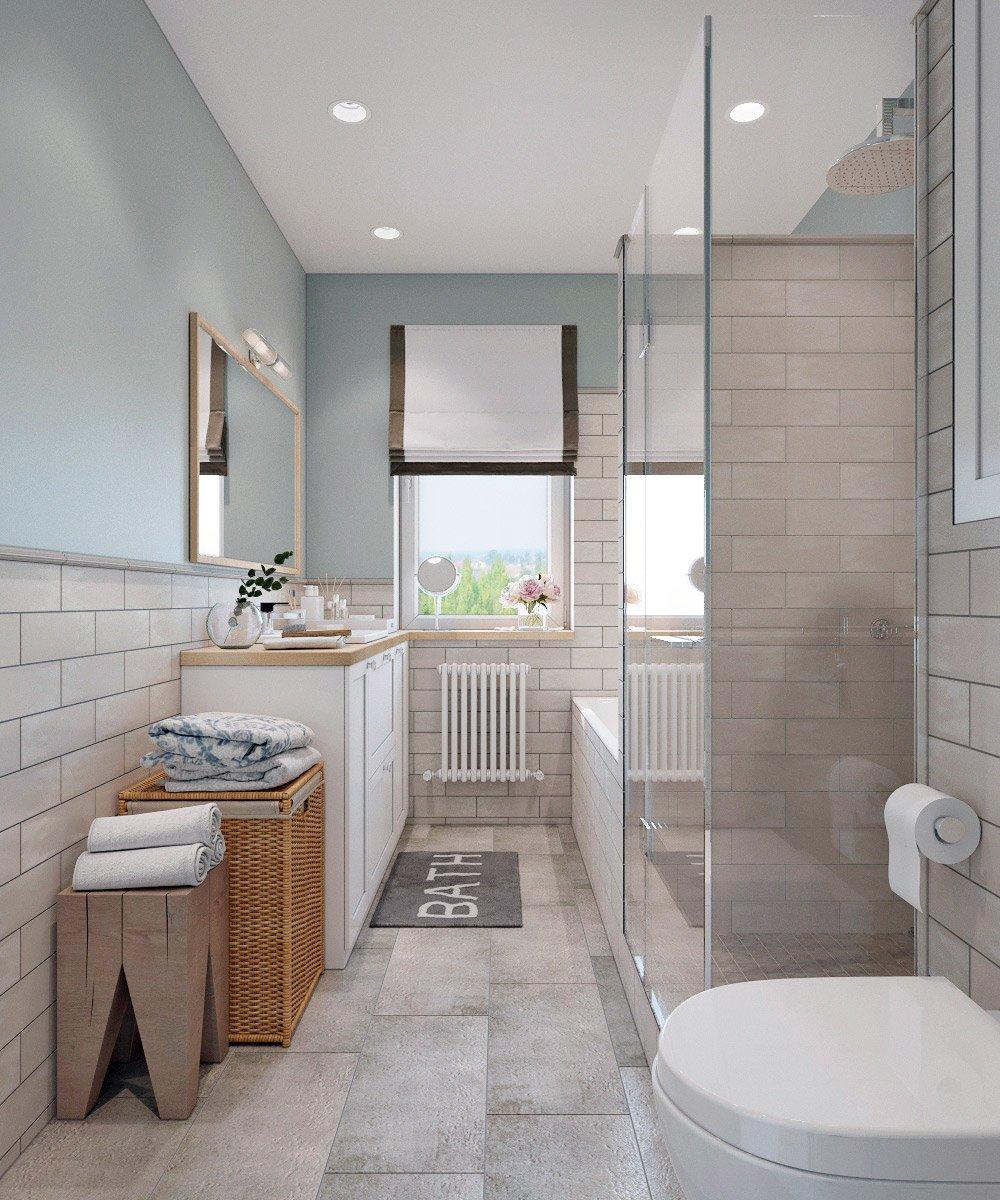 Планировка продольной ванны