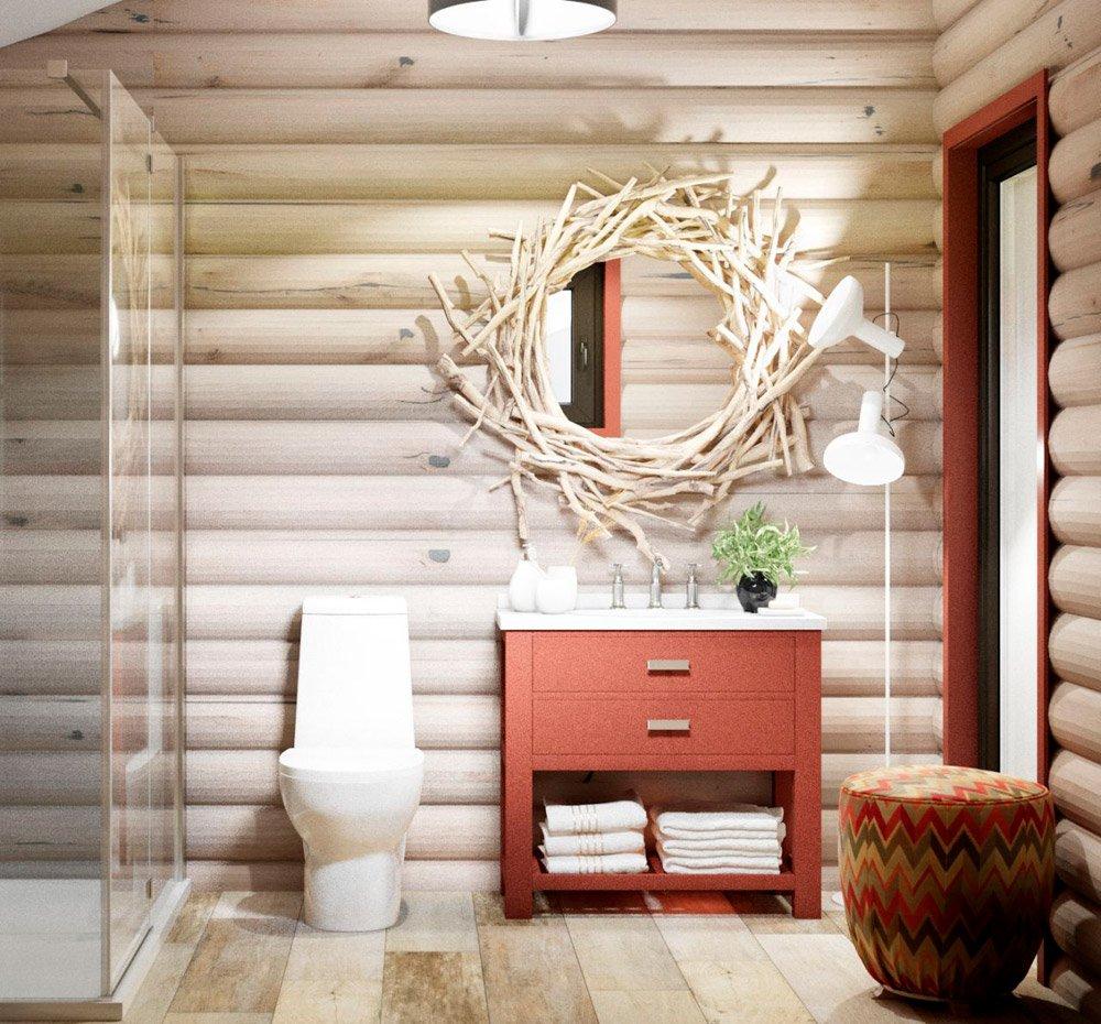 Вариант дизайна душевой комнаты в доме