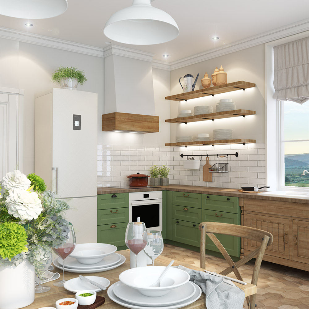 Подсветка рабочей зоны в дизайне кухни