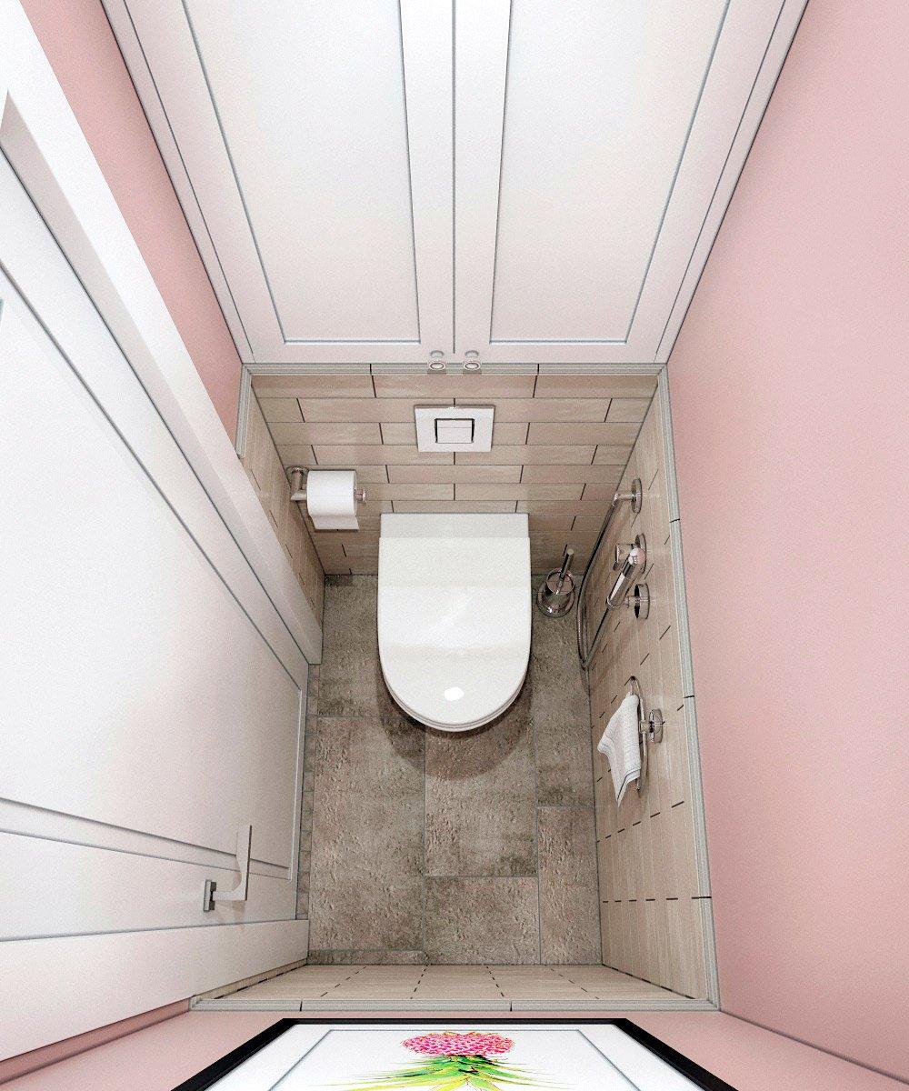 Светлый интерьер туалета