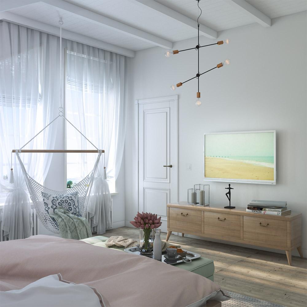 Уютная мебель в спальню частного дома
