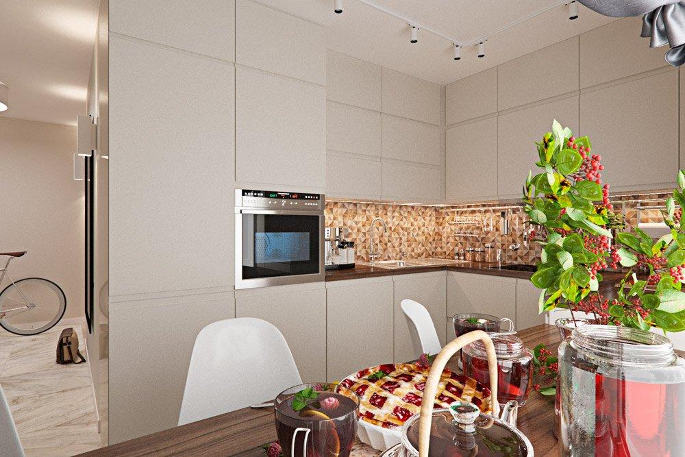 Фото дизайна узкой кухни