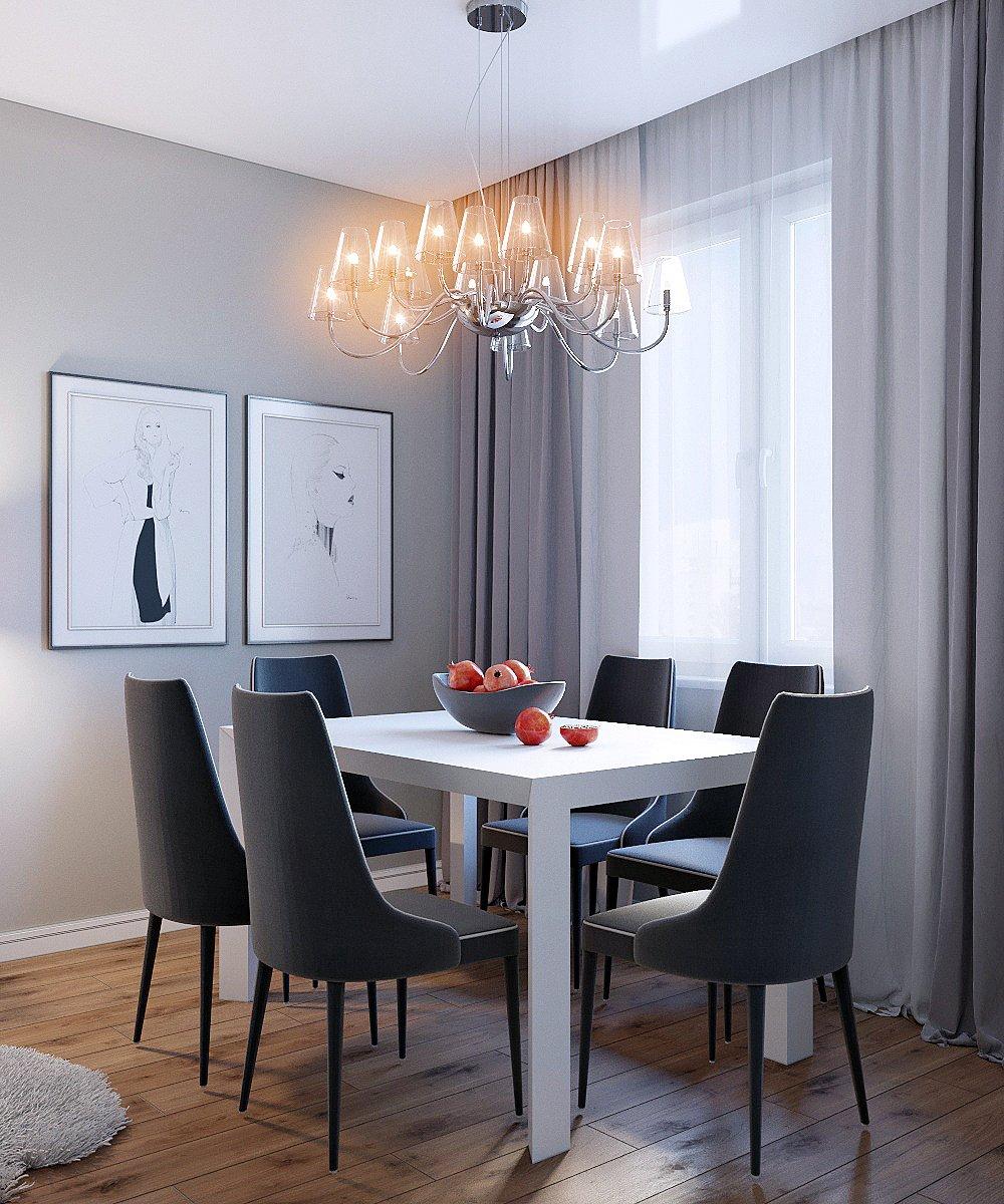 Столовая зона в маленькой квартире