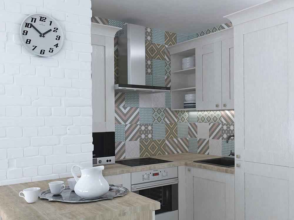 Плитка для кухни в скандинавском стиле