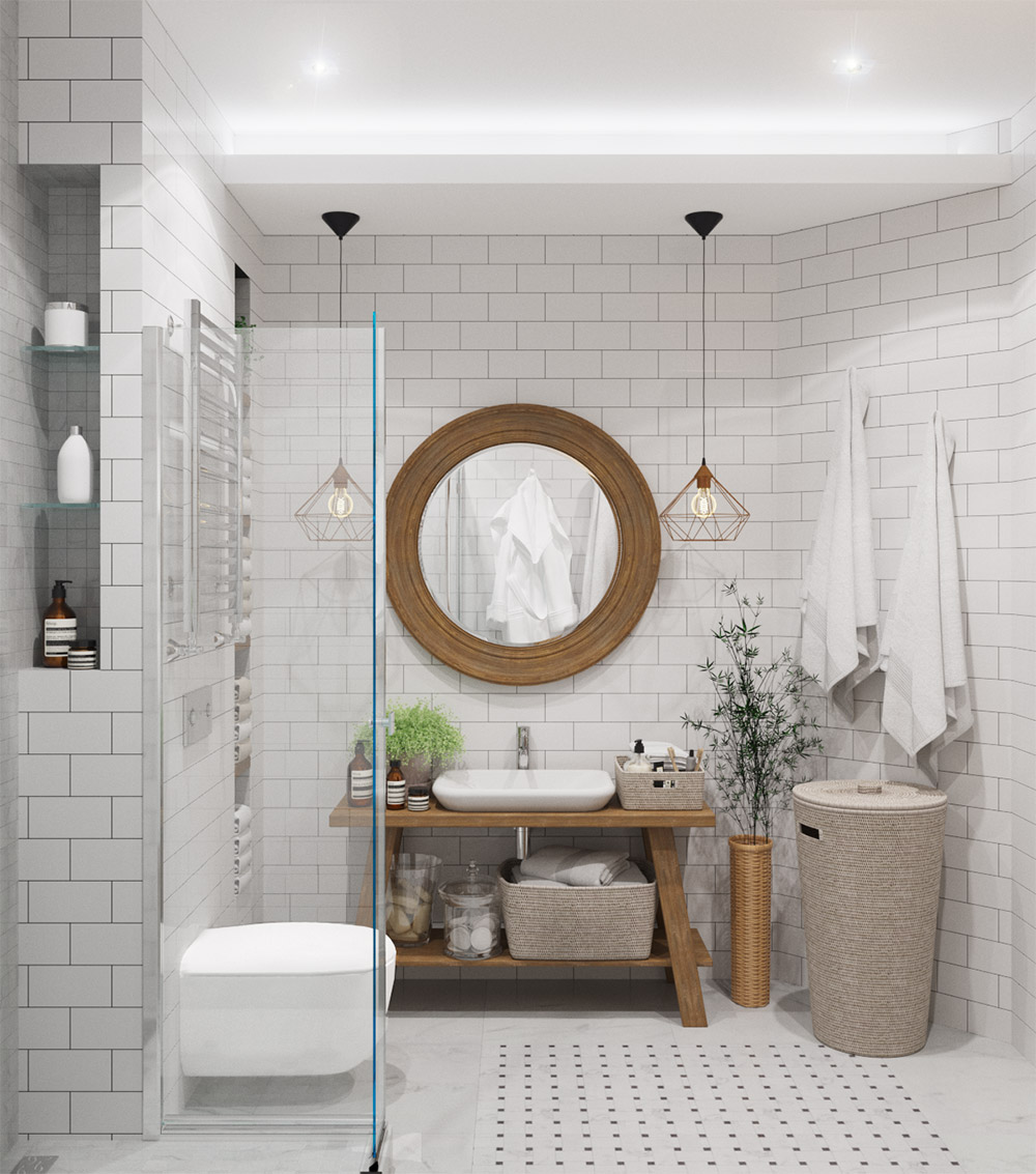 Отдельная ванная комната в частном доме