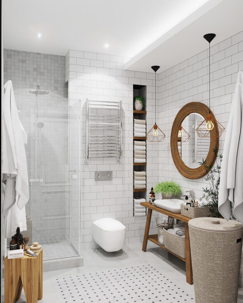 Ванная комната в белом цвете фото