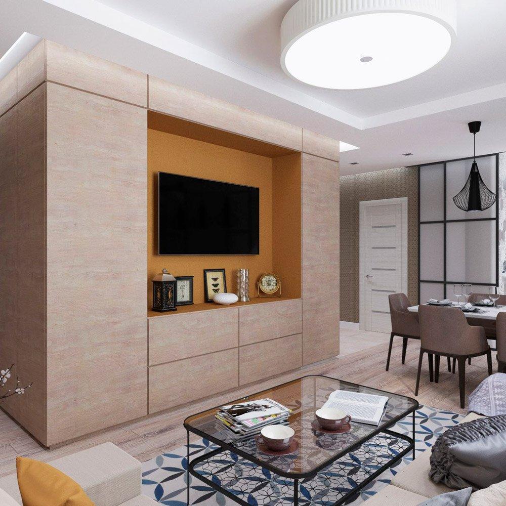 Дизайн зоны отдыха в гостиной