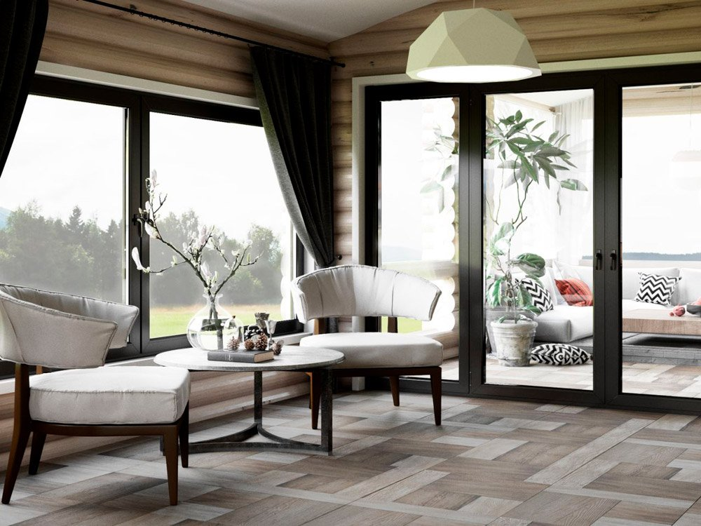 Дизайн террасы в деревянном доме