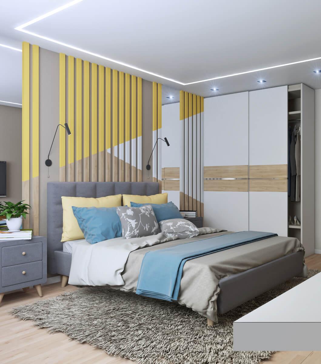 Спальня в стиле поп-арт