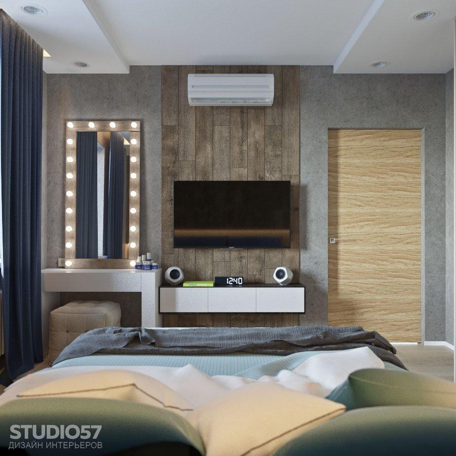 Спальня с элементами стиля лофт