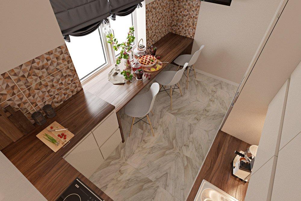 Фото кухни сверху