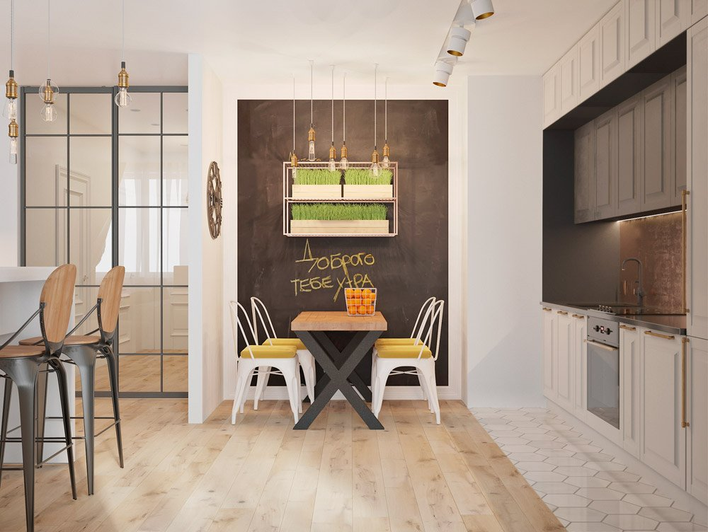 Дизайн проект кухни в двухкомнатной квартире